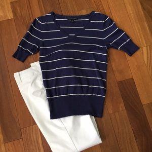 Banana Republic striped short sleeve sweater
